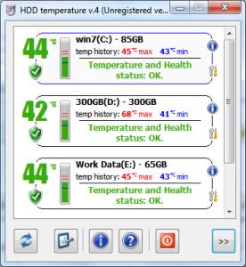 کنترل دمای دیسک سخت HDD Temperature