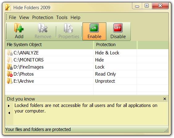 مخفی کردن فایلها و فولدرها Hide Folders