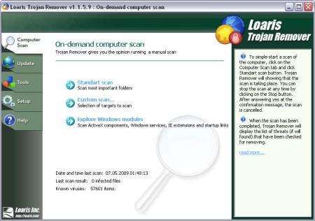 پاکسازی تروجانها Loaris Trojan Remover