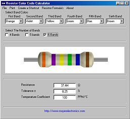 محاسبه مقاومت Resistor Color Code Calculator