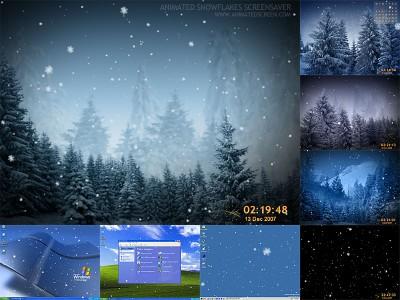 دانلود اسکرین سیور Animated SnowFlakes