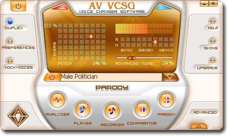 AV Voice Changer Software Gold نرم افزار تغییر صدا
