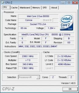 مشخصات قطعات کامپیوتر CPU-Z
