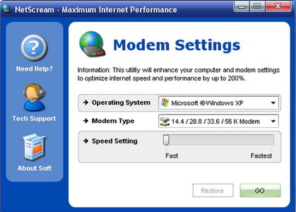 افزایش سرعت اینترنت NetScream
