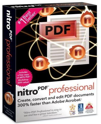 ساخت پی دی اف Nitro PDF Professional