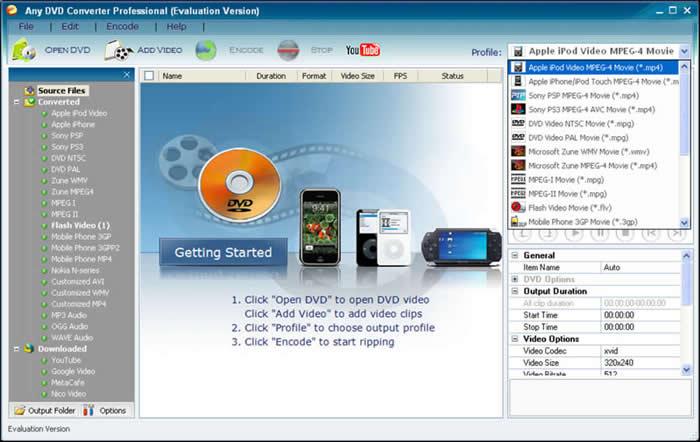 دانلود برنامه  تبدیل دی وی دی Any DVD Converter Pro