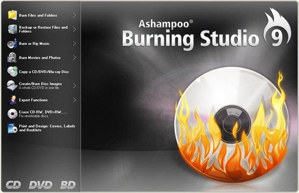 رایت کپی سی دی Ashampoo Burning Studio