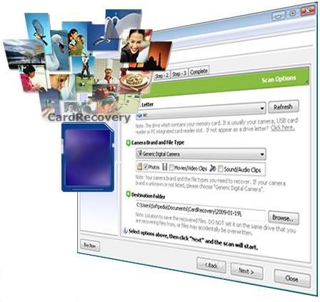 بازیابی اطلاعات کارتهای حافظه CardRecovery