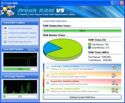 بهینه سازی حافظه رم Fresh RAM