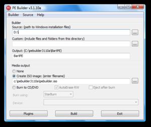 bootable ساخت ویندوز پرتابل PE Builder