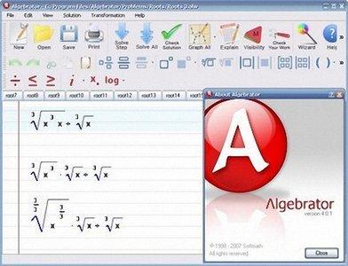علائم ریاضی SoftMath Algebrator