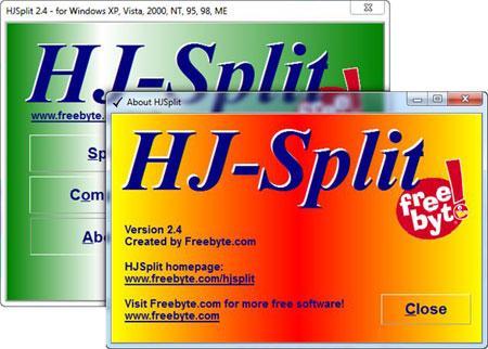 تکه تکه کردن چسباندن فایلها HJSplit