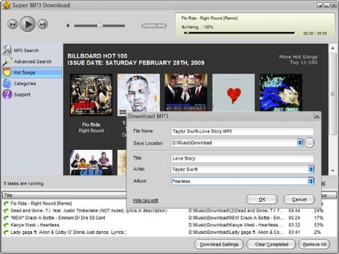جستجوی آهنگ Super MP3 Download Pro