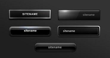 دکمه های سیاه و سفید برای وب